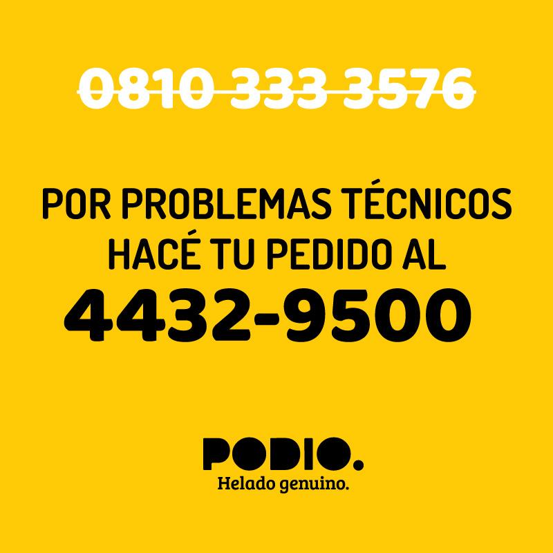 Por problemas técnicos hace tu pedido al 44329500